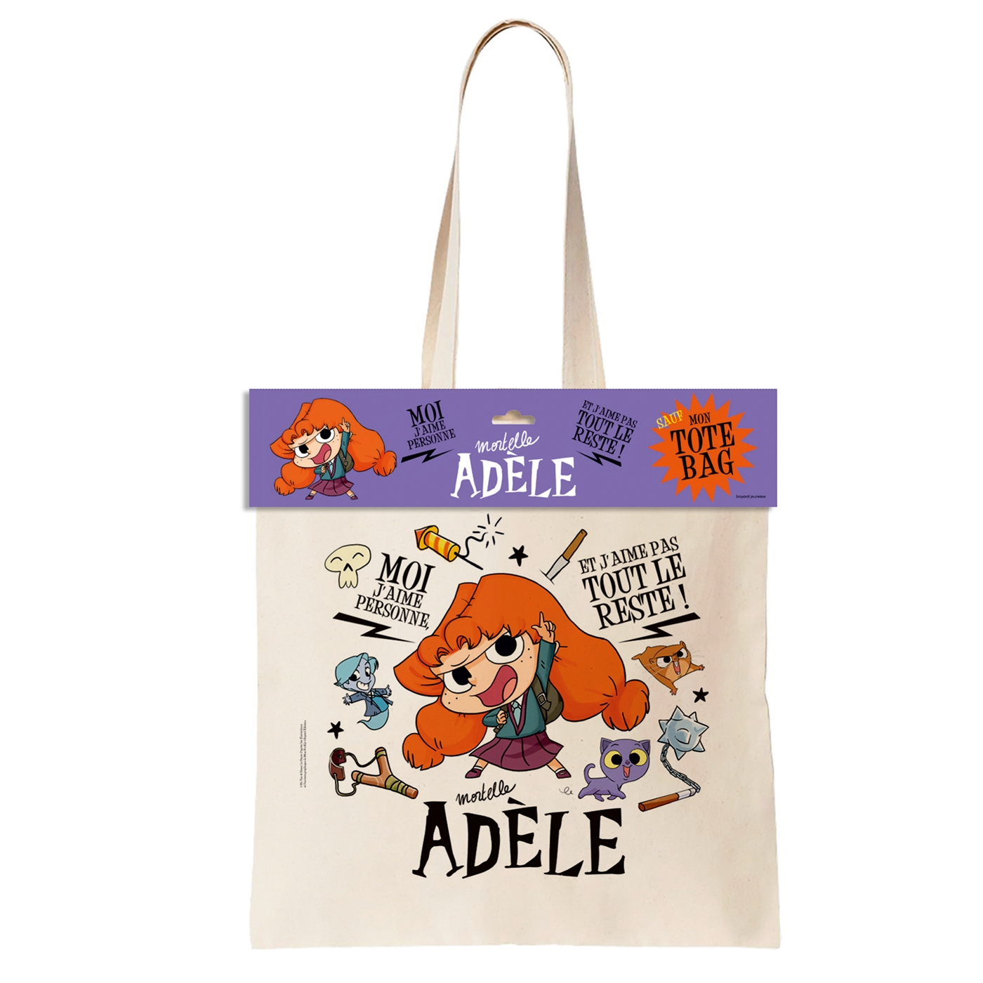 Image à la une de l'article « Tote bag Mortelle Adèle »